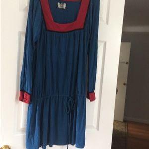 David Bitton long sleeve mini dress